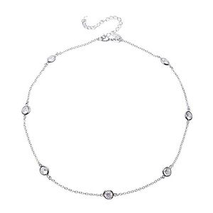 CZ by Kenneth Jay Lane Round Short Necklace